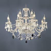12- light The style of palace Glass Chandelier With Candle Bu...