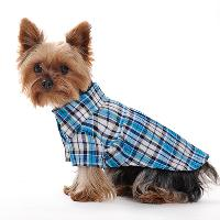 Cool Pet Dog Plaid Dress Blue Pet Dog Skirt
