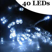 40 LED string MINI FAIRY LIGHTS BATTERY power OPERATED white...