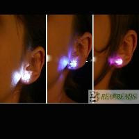 1 Pair Light Up Led Earring Studs 10 colors(yellow, blue, red,...