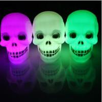 For Halloween Day LED Colourful Skeleton Head Lamp Light min...