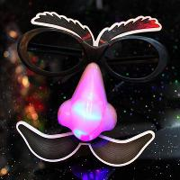 Halloween Day Flash props led masks big nose glasses party g...