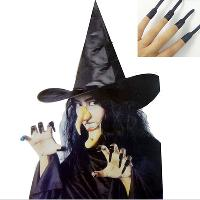 Halloween costumes clothes props witch hat dentures nail nos...