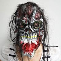 Halloween Masks Halloween supplies masquerade mask with hair...