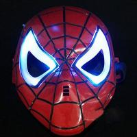 Cosplay Glowing Spiderman Spider Man Mask With Blue LED Eyes...