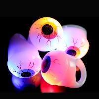 Halloween flashing eyeball ring Led soft eyeball ring