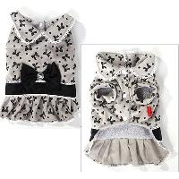Pet clothing winter clothing sweet bow super soft dog clothe...