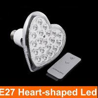 Heart- shaped E27 led bulb lamp with Remote Control 20 LED Li...