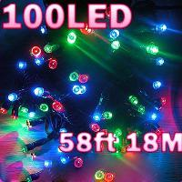 Solar Power 58FT 18M 100 LED Lights Holiday Decoration Water...