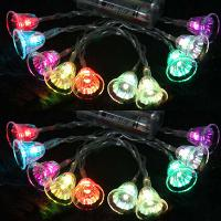 1. 2m 10 LED Jingle Bell LED String Light Flexible light AA b...