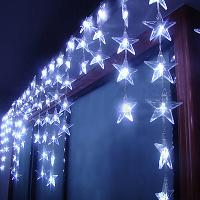 90 LED lights 4*0. 7m Curtain Lights, Christmas ornament light...