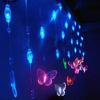2Mx0. 65M Seven Colors Butterfly LED String Lamp with 288 LED...