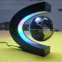 led light magnetic levitation floating world map 3 inch anti...