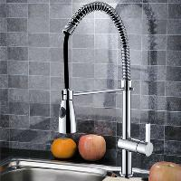 High Quality Single Handle Brass Kitchen Faucet with Chromiu...