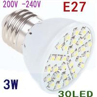 LED 3W E27 200V SMD3528 Warm White light bulb 30 leds energy...