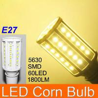 High Quality 12W E27 60 LED 5630 SMD 1800LM LED Corn Bulb Wh...