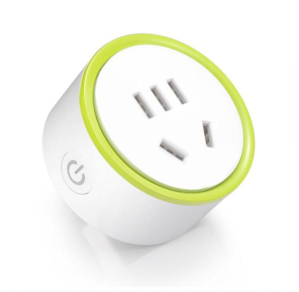 MINI K Wifi Power Sockets Home Electrical Automation Mobile Phone Wireless Remote Control Timer Smart Switch Wall Plug White Color