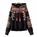 embroidery hooded sweatshirt