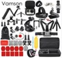 Vamson for Gopro Accessories for Professional Heroes 6543 Suite 3-way Self-timer Pole for Eken H8R / for Xiaomi for Yi EVA Case VS77