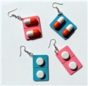 Pill Medicine Earrings  Party Jewelry