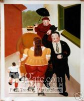 Wholesale OIL PAINTING REP BOTERO STREET SCENE