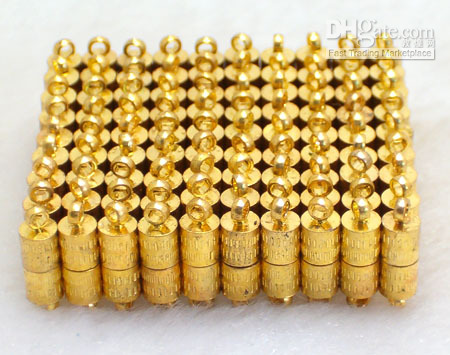 Wholesale magnetic jewelry clasp in GOLD plating pairs