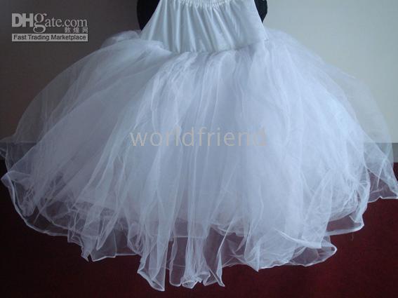 Made in china full petticoat slip crinoline wedding dress for Plus size wedding dress petticoat