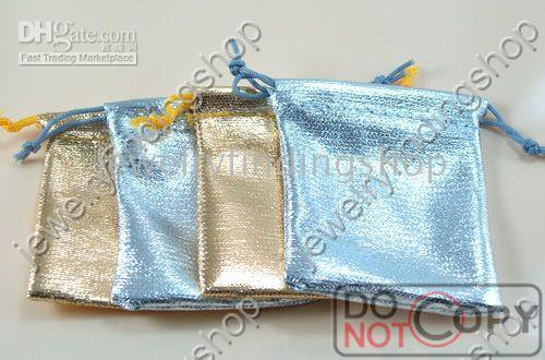 Wholesale golden and silvery jewelry pouch