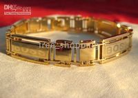 Wholesale New Fashion Jewelry KT Yellow Gold filled Famous Brand Chain Bracelet Brand New