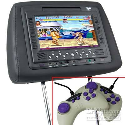 Wholesale 7 CAR PILLOW WITH DVD PLAYER GAME SD USB FM TRANSMITTER IR REMOTE CONTRAL