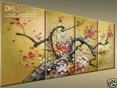 Wholesale FLORAL flower Pure Hand painted Landscape Modern Art oil painting On High Quality Canvas For Wall Deco