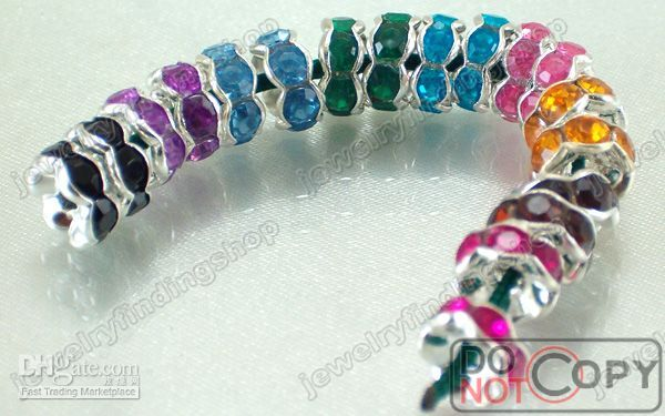 Wholesale jewelry spacers in KGP mixed colours