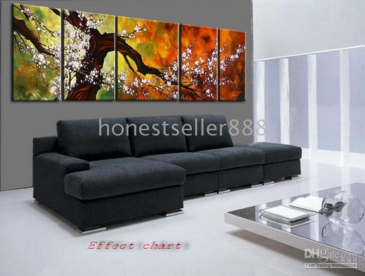 Wholesale Free shiping handicraft ASIAN BLOSSOM ABSTRACT ZEN ART PAINTING Plum Blossom