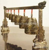 Wholesale Asian Feng Shui Dragon Brass Serial Bells