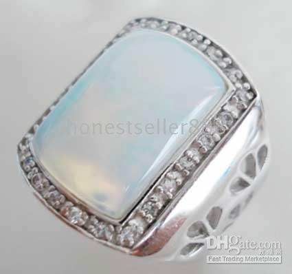 Wholesale Price Charming jewelry white opal men s ring