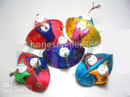 20PCS CHINESE SILK ROUND RING BAGS JEWELRY BOXES