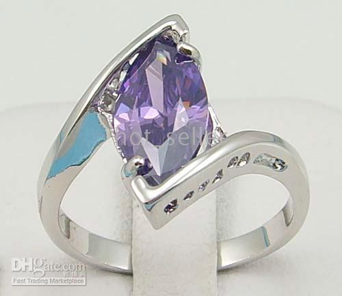 With Side Stones alexandrite gemstone jewelry - Women s Jewelry Elegant Nature Alexandrite Gemstone Jade KT White Gold GP Wedding Ring