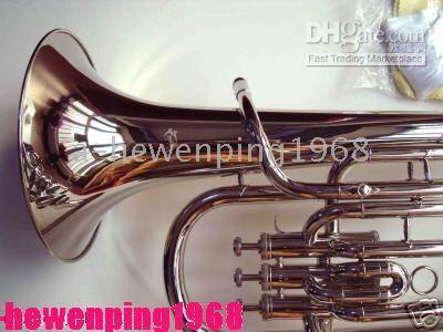 Wholesale SKILL Silver Nickel Plate Baritone Bb Piston Horn Case