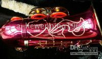 Wholesale Pink ALTO BRASS SAX SAXOPHONE SAXAPHONE High F Key