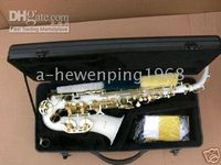 Wholesale white Alto SAX SAXOPHONE saxaphone High F accessories