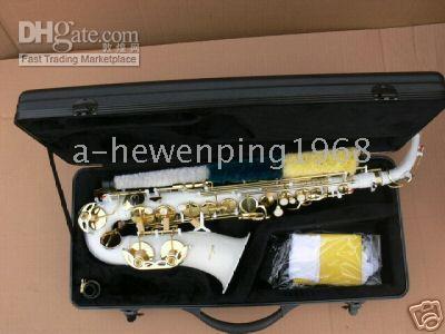 Wholesale white Alto SAX SAXOPHONE saxaphone High F accessories