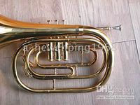Wholesale Neuf Bb Gold Brass Marching FRENCH HORN with Case
