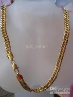 Wholesale Fashion Jewelry KT Yellow Gold GP Famous Chain Noblest Women s Evening Party Jewelr