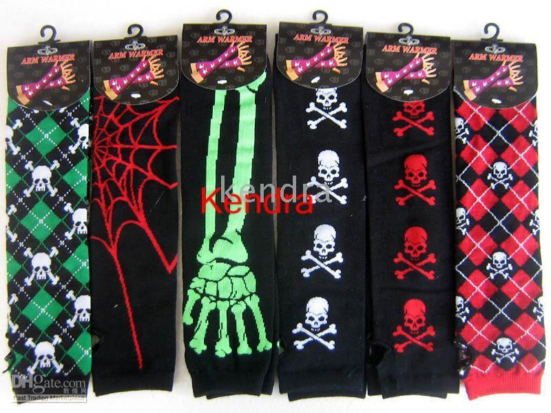 Wholesale 24 Pairs Nightmare Before Christmas Warmer Arm Gloves Halloween costume mascot