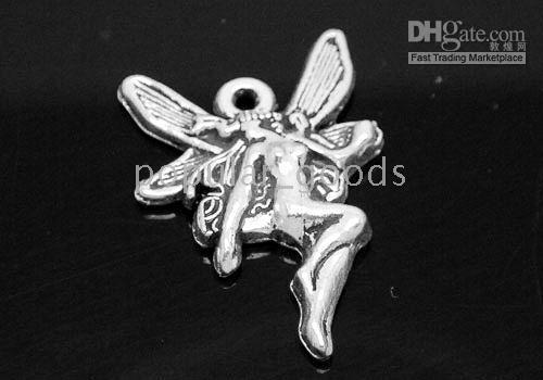 Wholesale Tibetan silver mini Fairy charms pendants Fit f0421