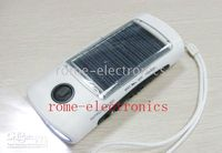 Wholesale 20pcs LED solar power flashlight torch with FM Radio and mobile Phone Charger