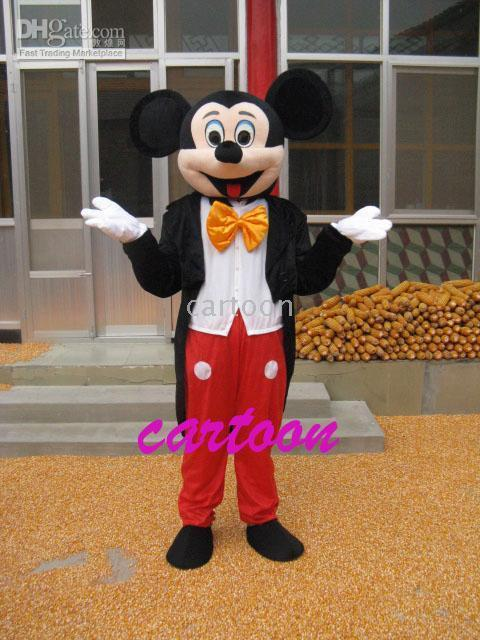 Tamaño del partido de Halloween del traje de la mascota del ratón de mickey de los Hijos Adultos!