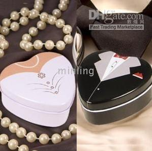 Cheap Dressed to the Nines - Wedding Dress Mint Tin Wedding candy box Wedding Gifts wedding favors