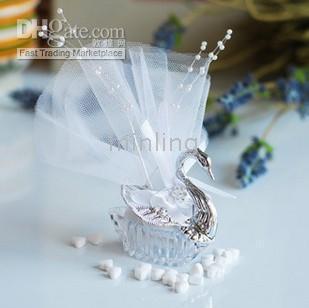Wholesale 50pcs Swan Princess Wedding candy box Wedding Gifts wedding favors