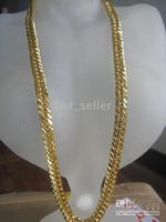 Wholesale Handsome Jewelry kt yellow Gold GP Rope Chain Link Necklace New arrival